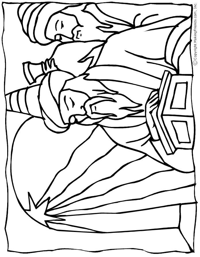 Bible coloring pages for Wisemen coloring pages