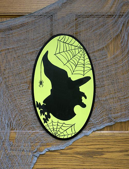 Witch Silhouette Plaque