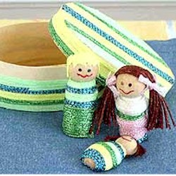 Image of Wood Worry Dolls