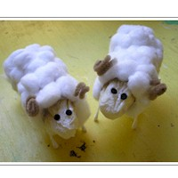 Image of Rolled Gauze Sheep and Shepherd