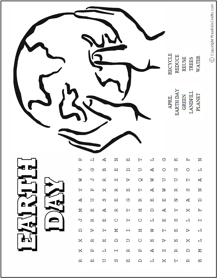 picture regarding Earth Day Word Search Printable referred to as Globe Working day Term Puzzles