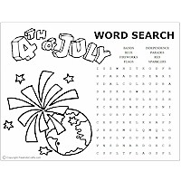 Image of July 4th Word Puzzles
