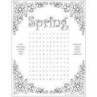 Image of Printable Spring Word Puzzles
