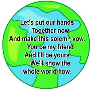 Image of World Neighbors Handprint Poem
