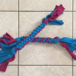 Recycled Tee Shirt Dog Toy