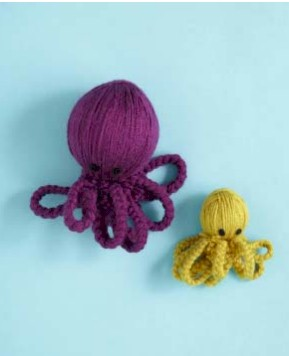 Image of Yarn Mama Octopus With Baby