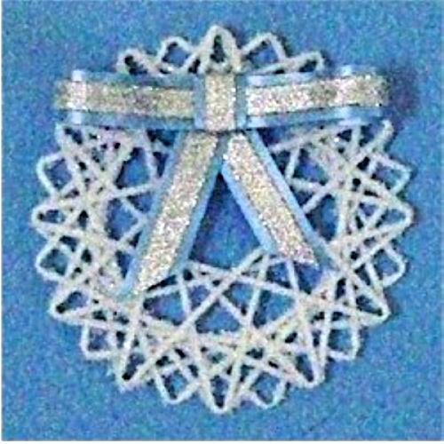 Yarn Snowflake Decoration