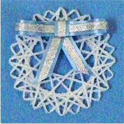 Image of Yarn Snowflake Decoration