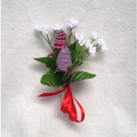 Image of Denim Fabric Rose